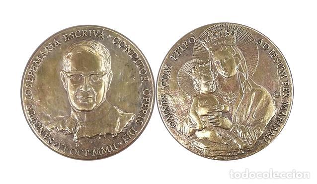 MEDALLA CANONIZACION SAN JOSE MARIA ESCRIVA DE BALAGUER 2002 (Antigüedades - Religiosas - Medallas Antiguas)
