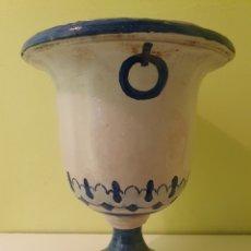 Antigüedades: JARRON MACETERO REALIZADO EN CERÁMICA TRIANA (SEVILLA). Lote 217607742