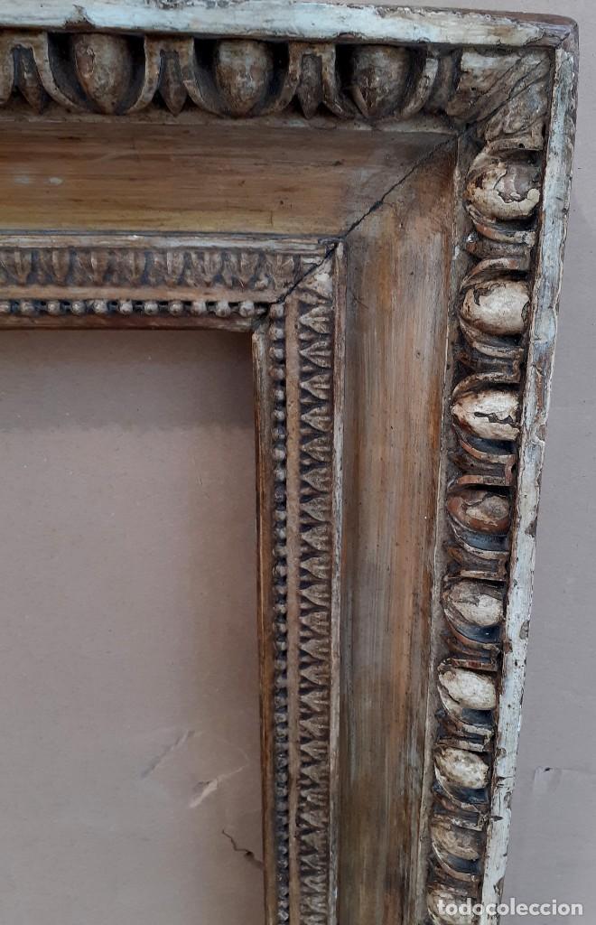 Antigüedades: Marco tallado en madera y dorado siglo XIX - Foto 4 - 200533682