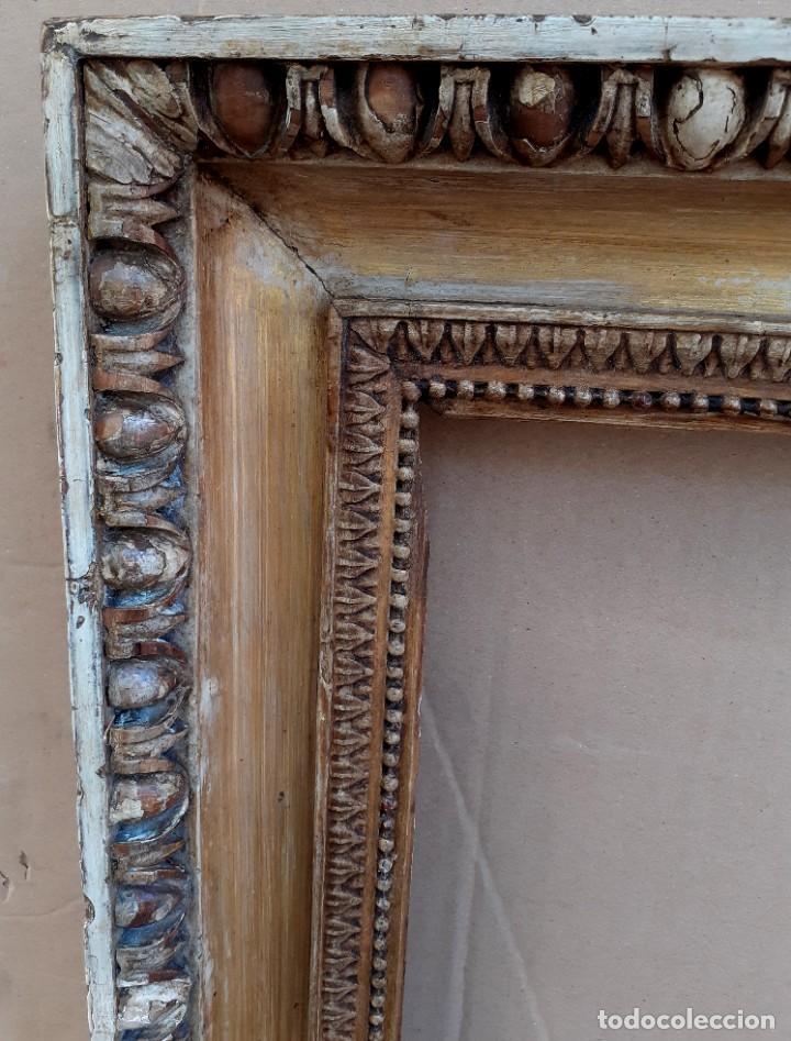 Antigüedades: Marco tallado en madera y dorado siglo XIX - Foto 5 - 200533682