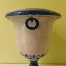 Antigüedades: JARRON MACETERO REALIZADO EN CERÁMICA TRIANA (SEVILLA). Lote 217608810