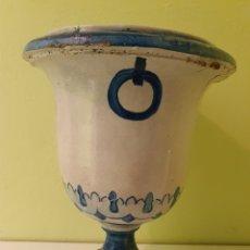 Antigüedades: JARRON MACETERO REALIZADO EN CERÁMICA TRIANA (SEVILLA). Lote 217609431