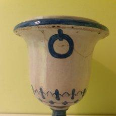 Antigüedades: JARRON MACETERO REALIZADO EN CERÁMICA TRIANA (SEVILLA). Lote 217610622