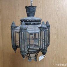 Antigüedades: LÁMPARA MODERNISTA EN METAL, 4000-009. Lote 47666111