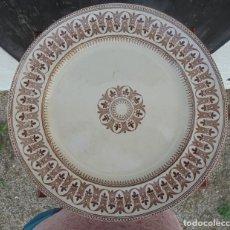 Antigüedades: PLATO INGLÉS MARRON SAPPHO. Lote 217618190