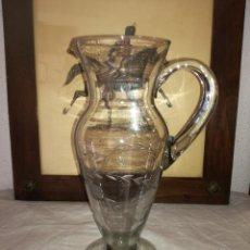 Antigüedades: ANTIGUA JARRA DE CRISTAL TALLADO. Lote 217620252
