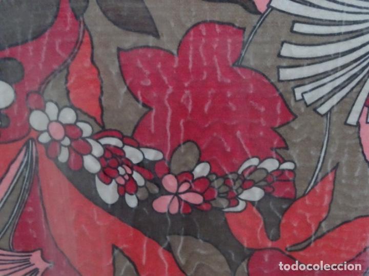 Antigüedades: Pañuelo seda enmarcado.vintage - Foto 2 - 217651920