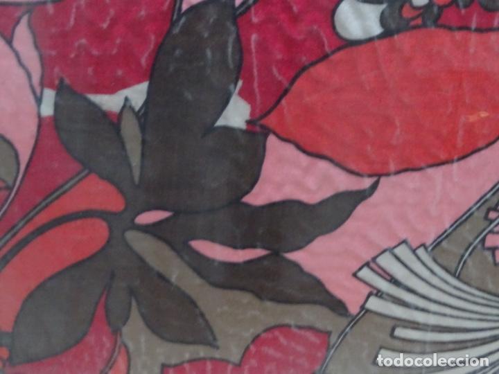 Antigüedades: Pañuelo seda enmarcado.vintage - Foto 3 - 217651920