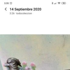 Antigüedades: ANTIGUA PAREJA DE FAISANES DE ALPACA. Lote 217658451