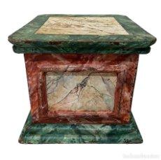 Antigüedades: ANTIGUA PEANA, MÉNSULA, PEDESTAL, COLUMNA DE MADERA PARA FIGURA. SIGLO XVII. 40X40X35. Lote 217664192