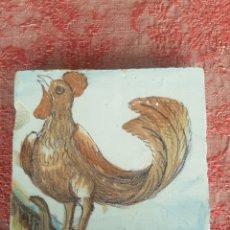 Antigüedades: AZULEJO FIGURA VALENCIA SIGLO XVILL 16,5 X 16,5. Lote 217691010