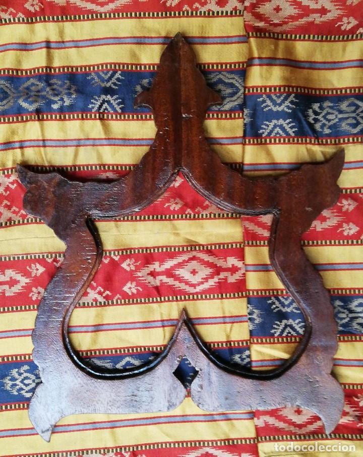 Antigüedades: MARCO CON INCRUSTACION EN NACAR (PAREJA) - Foto 4 - 217697383