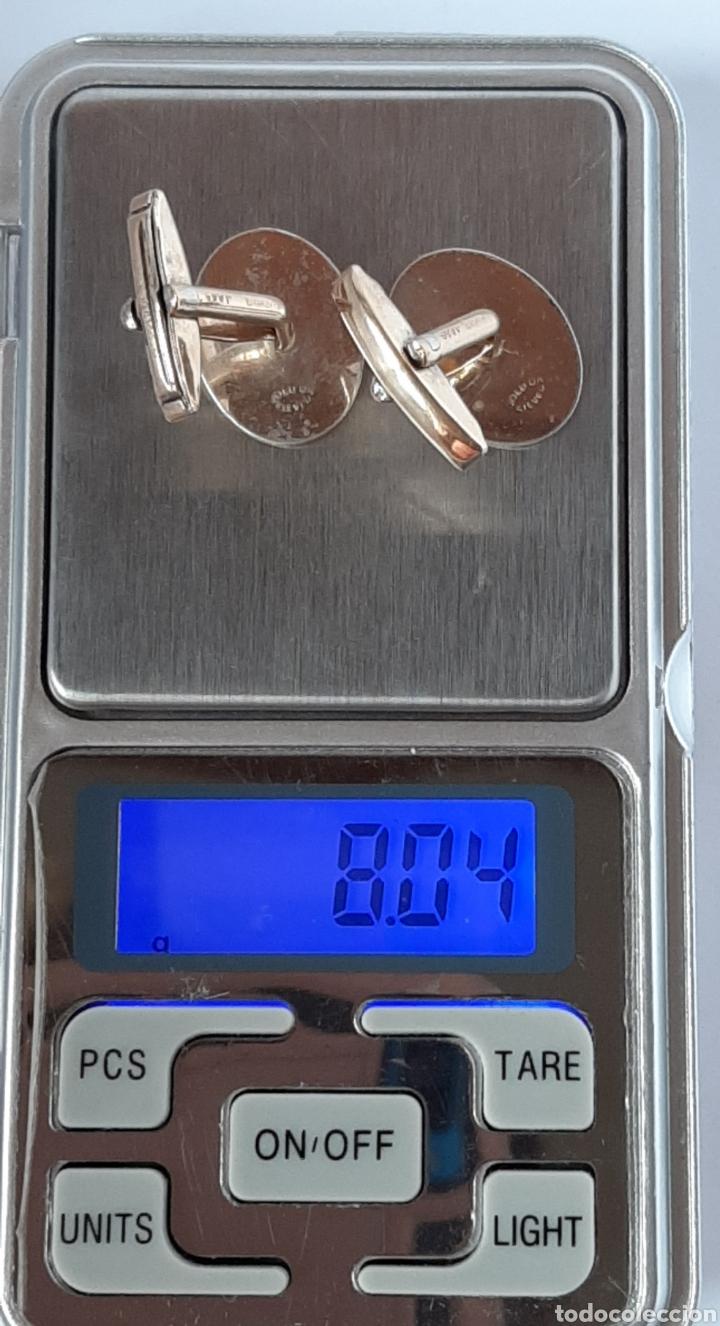 Antigüedades: Gemelos de oro 9ct gold y silver de 16.6 mm × 14.9 mm. 8 .04 gramos, ver fotos y descripción. - Foto 10 - 230009145