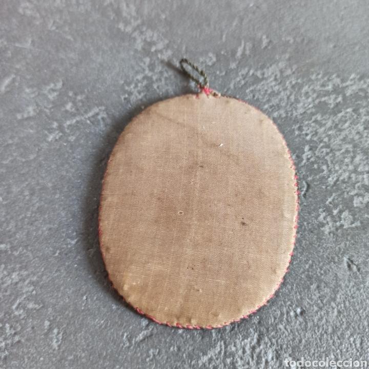 Antigüedades: Antiguo escapulario de seda y cristal cruz - Foto 4 - 217712898