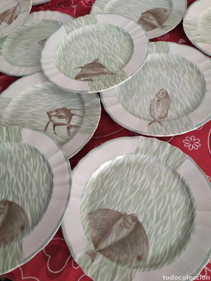 Antigüedades: Importante vajilla de pescado porcelana antigua de Limoges - Foto 2 - 217720726