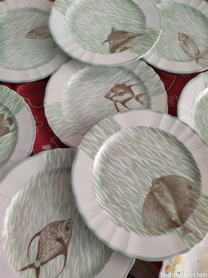 Antigüedades: Importante vajilla de pescado porcelana antigua de Limoges - Foto 3 - 217720726
