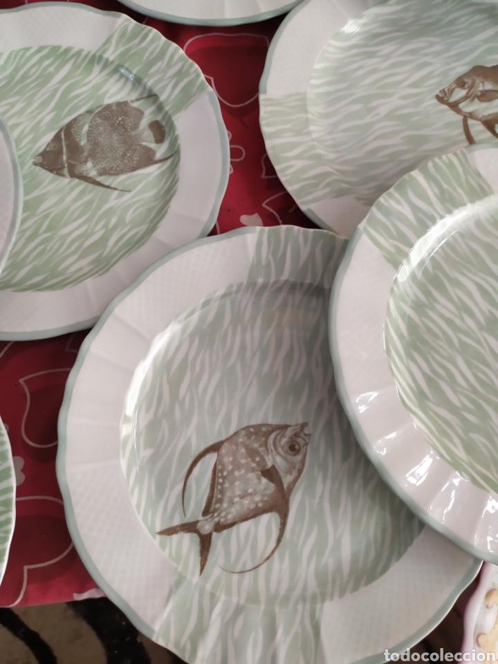 Antigüedades: Importante vajilla de pescado porcelana antigua de Limoges - Foto 4 - 217720726