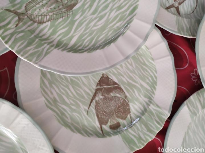 Antigüedades: Importante vajilla de pescado porcelana antigua de Limoges - Foto 6 - 217720726