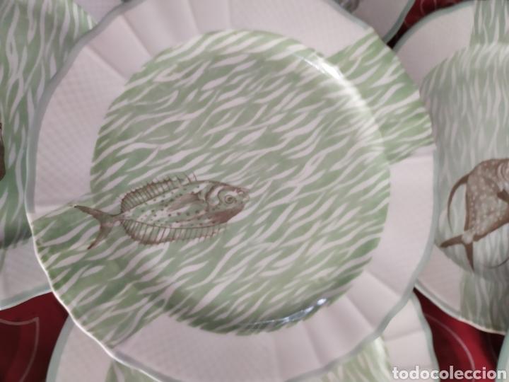 Antigüedades: Importante vajilla de pescado porcelana antigua de Limoges - Foto 7 - 217720726