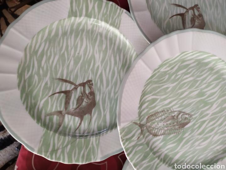 Antigüedades: Importante vajilla de pescado porcelana antigua de Limoges - Foto 8 - 217720726
