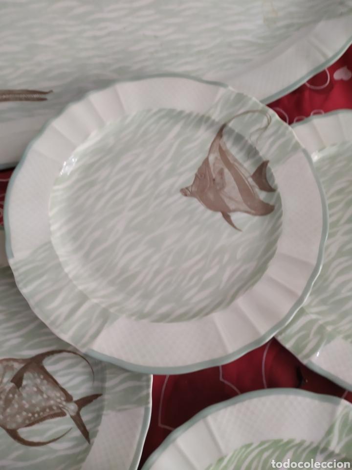 Antigüedades: Importante vajilla de pescado porcelana antigua de Limoges - Foto 10 - 217720726