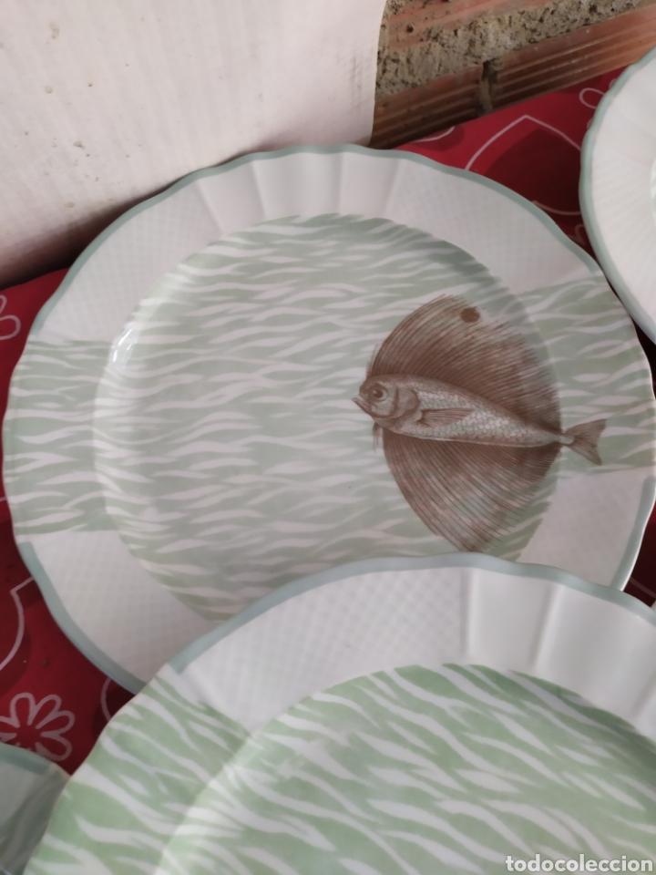 Antigüedades: Importante vajilla de pescado porcelana antigua de Limoges - Foto 11 - 217720726