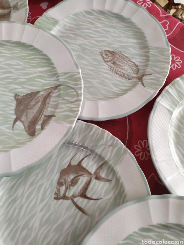 Antigüedades: Importante vajilla de pescado porcelana antigua de Limoges - Foto 13 - 217720726