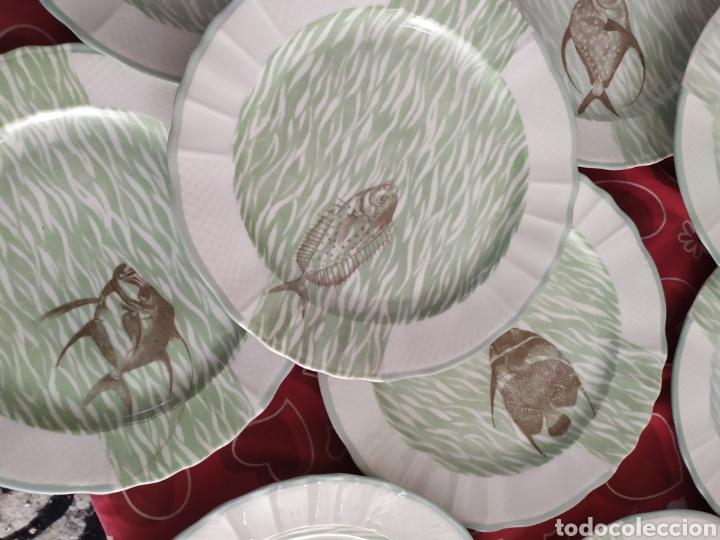 Antigüedades: Importante vajilla de pescado porcelana antigua de Limoges - Foto 14 - 217720726