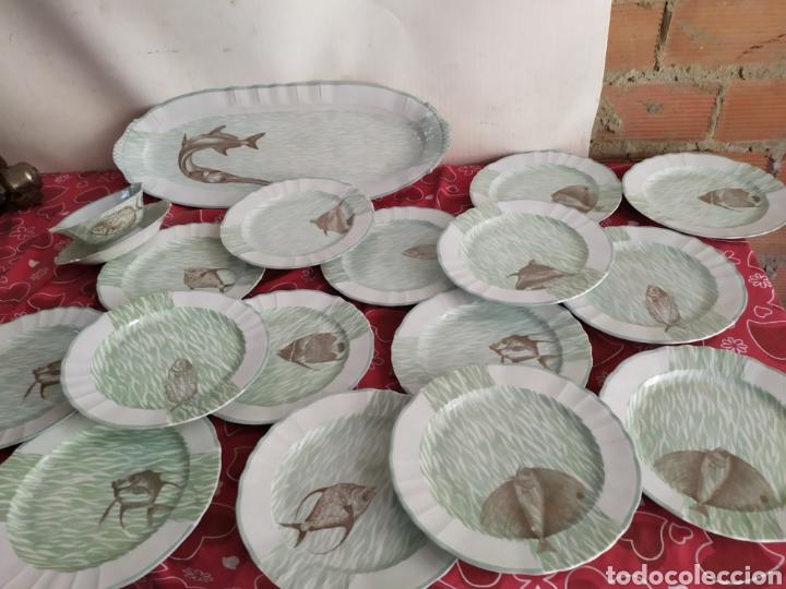 IMPORTANTE VAJILLA DE PESCADO PORCELANA ANTIGUA DE LIMOGES (Antigüedades - Porcelana y Cerámica - Francesa - Limoges)
