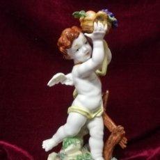 Antigüedades: ANGEL CUATRO ESTACIONES DE PORCELANA ALGORA. Lote 217737167