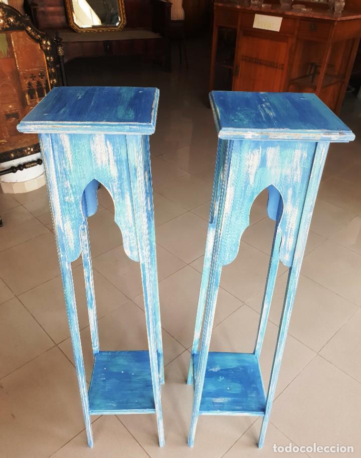Antigüedades: Pedestales antiguos restaurados - Foto 2 - 217829635