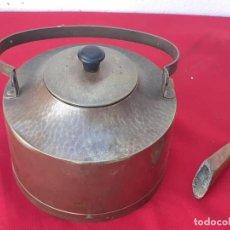 Antigüedades: CAFETERA DE COBRE. Lote 217833612