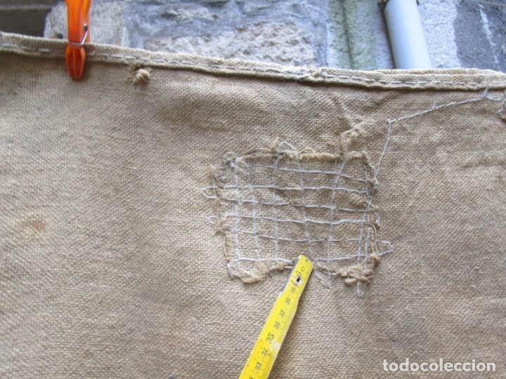 Antigüedades: SACO ARPILLERA YUTE LA FRANCIADE BLOIS 1965, 130x66CM, VARIOS ZURCIDOS EPOCA 800GR + INFO - Foto 2 - 217837305