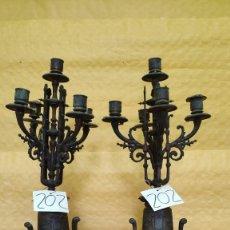 Antigüedades: PAREJA DE CANDELABROS DE CINCO LUCES SIGLO XIX, 6000-202. Lote 45672750
