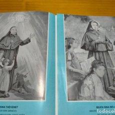 Antigüedades: ESTAMPAS RELIGIOSAS SANTA CLAUDINA THEVENET Y BEATA DINA BELANGER. Lote 217867497