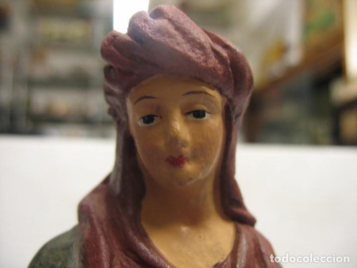 Antigüedades: figuras de pesebre grandes mujeres 22cm. alto - Foto 5 - 217882637