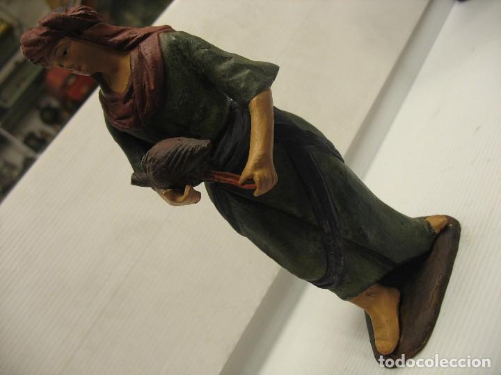 Antigüedades: figuras de pesebre grandes mujeres 22cm. alto - Foto 6 - 217882637