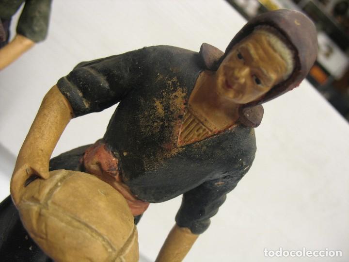Antigüedades: figuras de pesebre grandes mujeres 22cm. alto - Foto 21 - 217882637