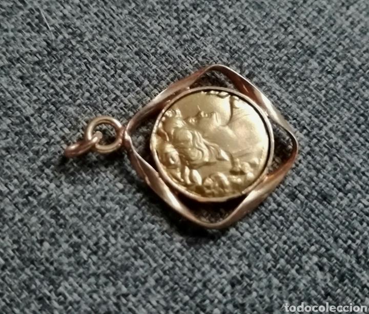 Antigüedades: Medalla, colgante, dije modernista. Antiguo. Sin usar. ENVIO GRATIS. - Foto 3 - 217882831