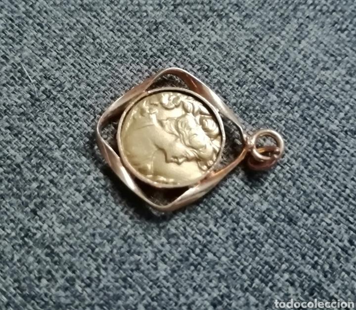 Antigüedades: Medalla, colgante, dije modernista. Antiguo. Sin usar. ENVIO GRATIS. - Foto 4 - 217882831
