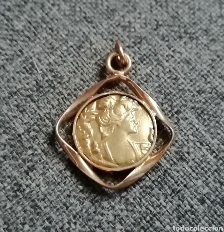 Antigüedades: Medalla, colgante, dije modernista. Antiguo. Sin usar. ENVIO GRATIS. - Foto 5 - 217882831