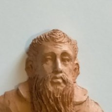 Antigüedades: BUSTO CABEZA TERRACOTA BARRO COCIDO DE FRAY DIEGO JOSE BEATO DE CADIZ . 9,6 X 9,1 CM. Lote 217891267
