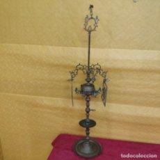 Antigüedades: CANDELABRO CON PANTALLA SIGLO XIX, 6000-080. Lote 43446788