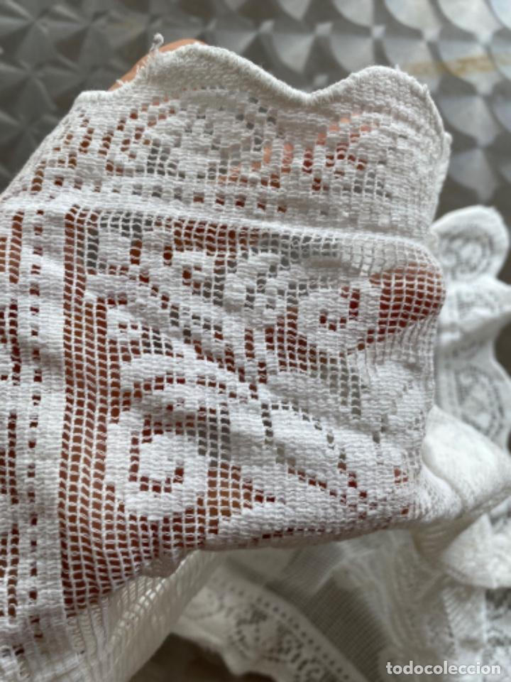 Antigüedades: Antiguo tapete paño ganchillo bordado 4 en uno pcios s XX - Foto 7 - 217918280