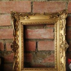 Antigüedades: MARCO EN MADERA DORADA. Lote 217926553