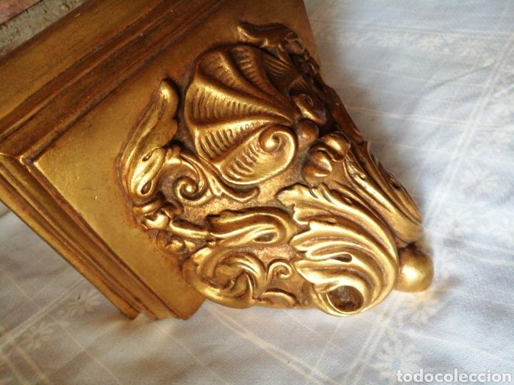 Antigüedades: Ménsula de madera para colgar - Foto 2 - 217938008