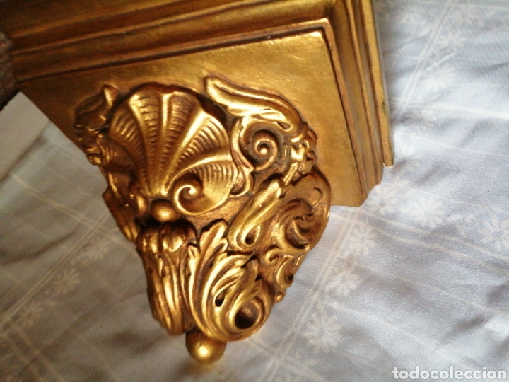 Antigüedades: Ménsula de madera para colgar - Foto 3 - 217938008