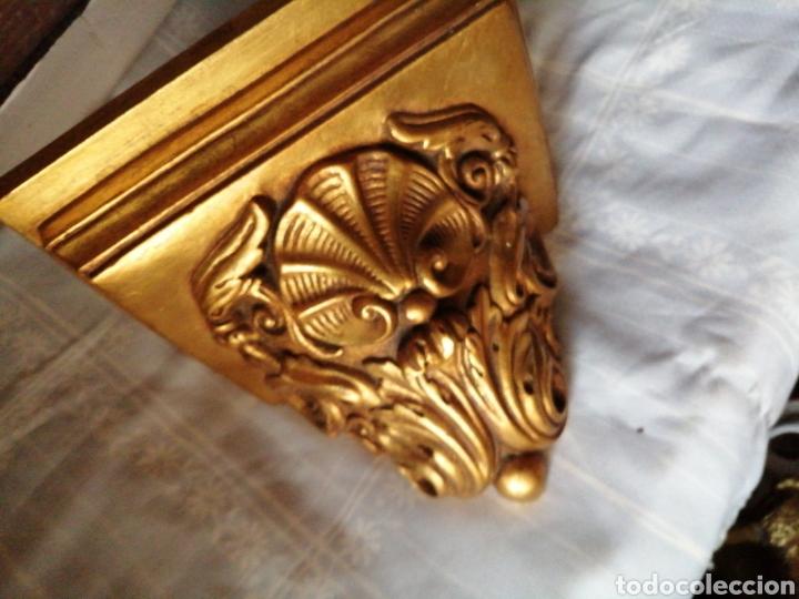 Antigüedades: Ménsula de madera para colgar - Foto 7 - 217938008