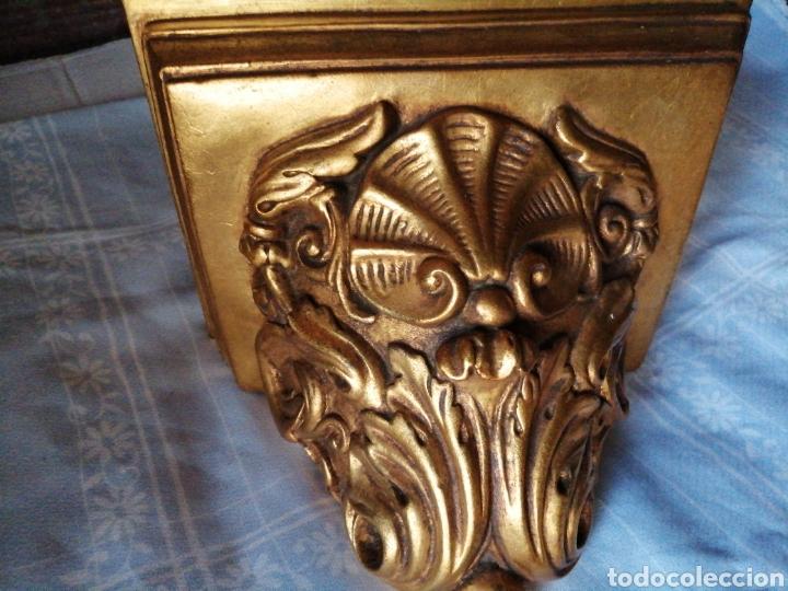 Antigüedades: Ménsula de madera para colgar - Foto 8 - 217938008