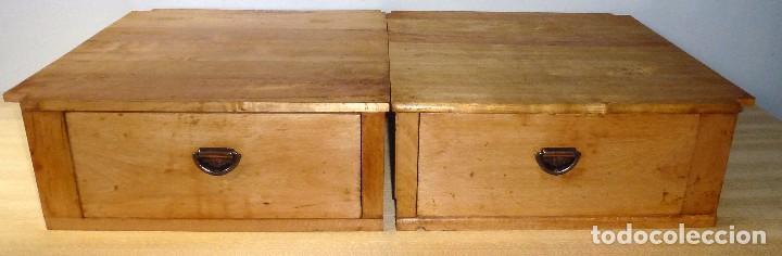 Antigüedades: Pareja De Cajones Para Armario.50 x 52 x 19 Cm. - Foto 2 - 217958838